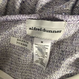 NWT Alfred Dunner shiny color block blouse